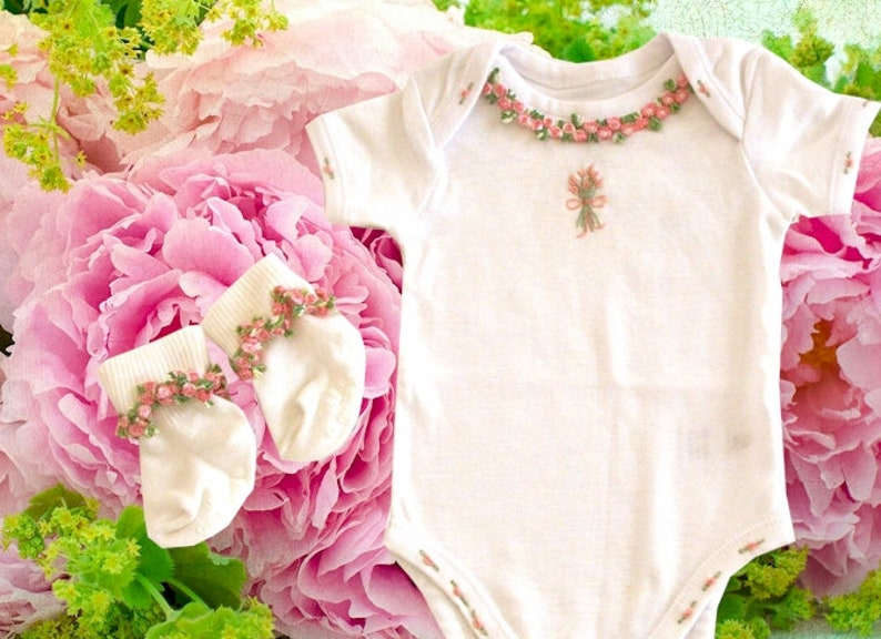 pima cotton shower gift newborn pictures Personalized Baby gift Baby Bodysuit embordiered sleeper Baby girl coming home outfit