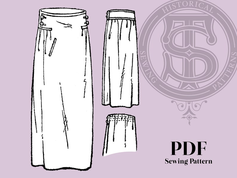 1920s Patterns – Vintage, Reproduction Sewing Patterns Ruth - 1920s Skirt 30
