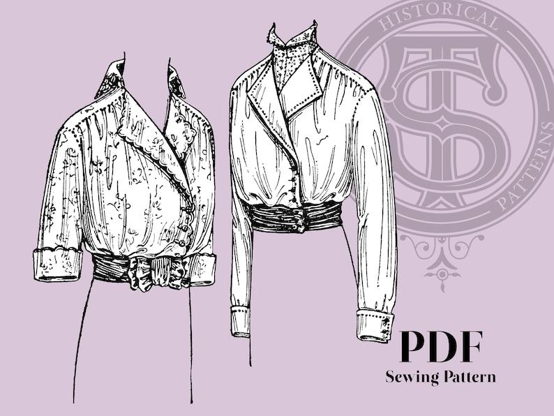 Edwardian Blouses |  Lace Blouses, Sweaters, Vests Luella - 1910s Waist 44