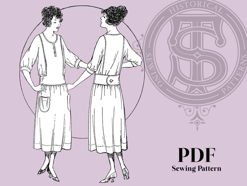 1920s Patterns – Vintage, Reproduction Sewing Patterns Clementine - 1920s Dress 40