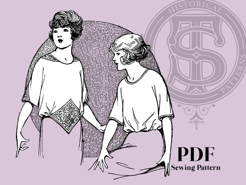 1920s Patterns – Vintage, Reproduction Sewing Patterns Grace - 1920s Blouse 34
