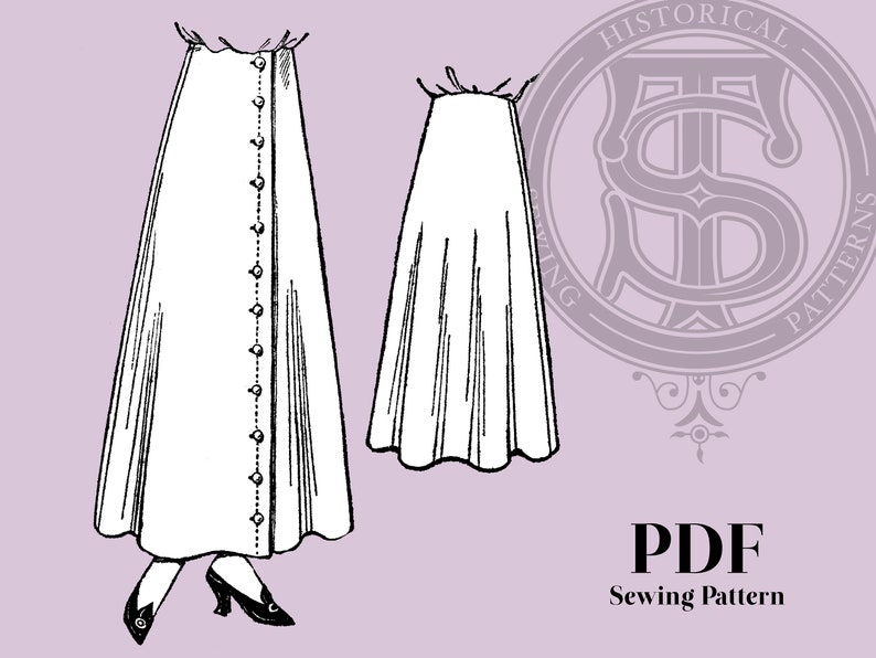 Edwardian Sewing Patterns- Dresses, Skirts, Blouses, Costumes Marion - 1910s Skirt 28