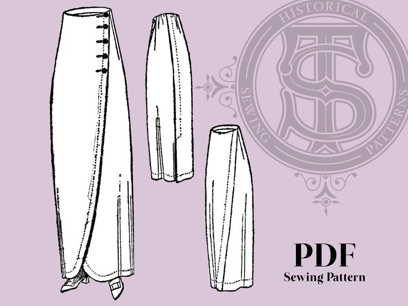 Edwardian Sewing Patterns- Dresses, Skirts, Blouses, Costumes Dorothy - 1910s Skirt 24