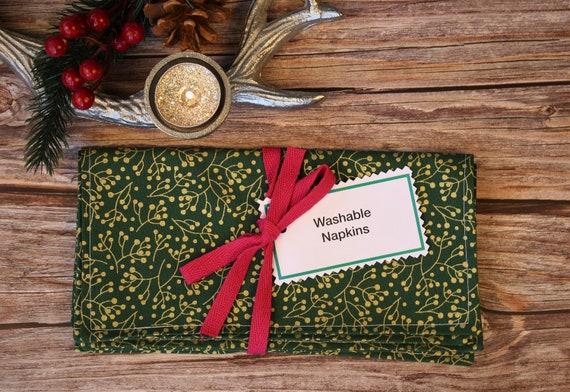 Zero Waste washable napkins Christmas table decoration