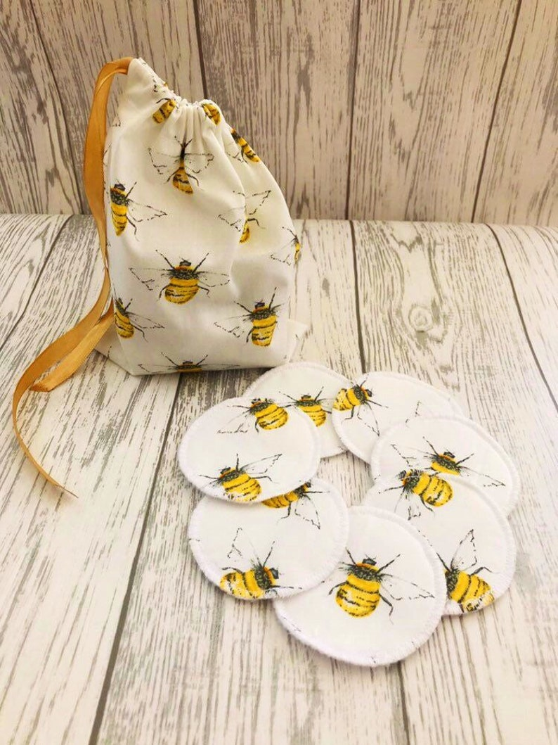 Reusable Face Pads with Wash Bag Cotton Rounds Face Wipes image 1