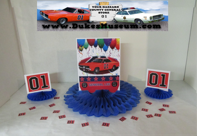 Dukes Of Hazzard Birthday General Lee Celebration Birthday Etsy