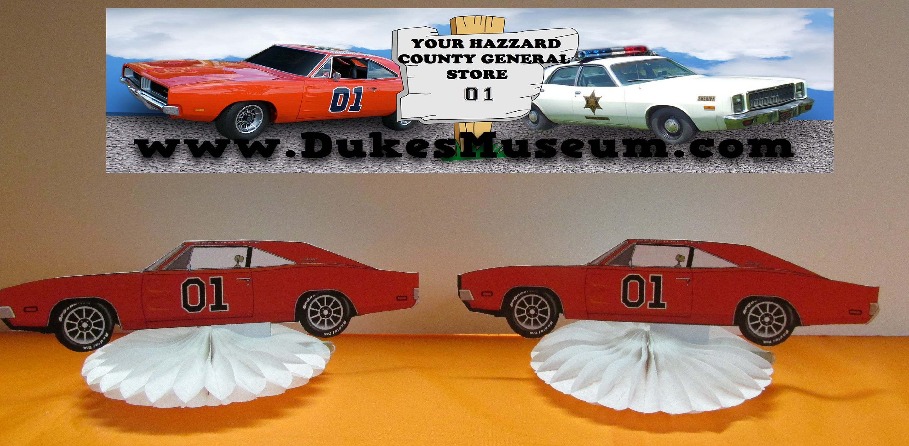 Dukes Of Hazzard Birthday General Lee Car Table Top Pieces Etsy