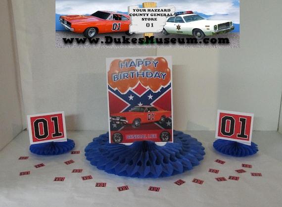 Prime Dukes Of Hazzard Birthday Orange Balloons General Lee Etsy Personalised Birthday Cards Arneslily Jamesorg