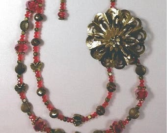 Red Necklace/Earring Combos
