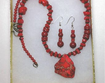 Red Neclace/Earring Combos