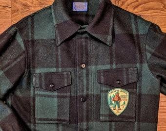 e0e5a63f27d7e Pendleton Mackinaw Vintage Shirt Jacket X Smokey the Bear Patch   Size  Medium   PatchEcology