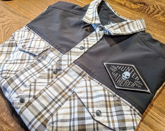 14d452ddb9676 REI Field Shirt Flannel X PDW Hunter Gatherer Skull Patch   Size Extra  Large   PatchEcology