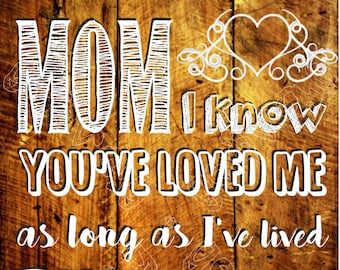 love my mom wooden-like printable poster