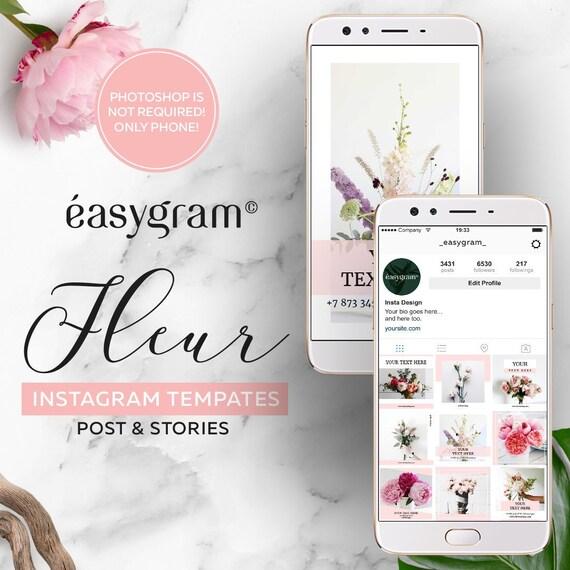 Instagram Templates Fleur Etsy