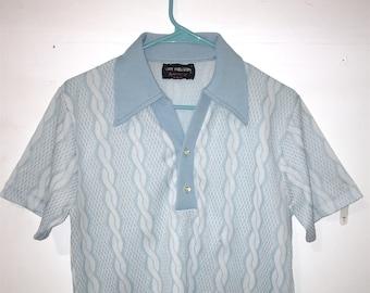 Van Heusen cable-knit s/s polo shirt, size M