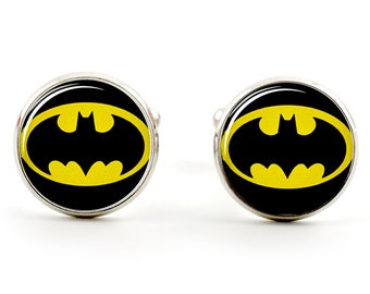 f69d35444598 Batman Cufflinks - DC Superheroes - Silver Plated Cuff Links in  Presentation Box or Gift Bag