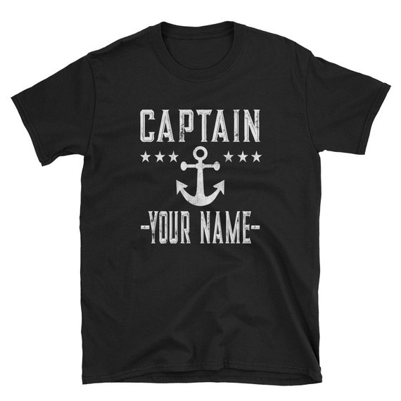 Boat Shirt Camp Shirt Button Down No Tuck Nautical Boating Gift Personalized Mens Shirt Motor Yacht Design Solid Color Custom Name