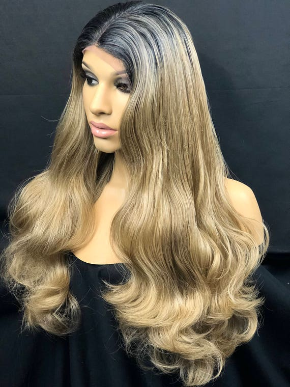 Blonde Ombre Hair Color Balayage Highlights Dark Blonde Hair Etsy
