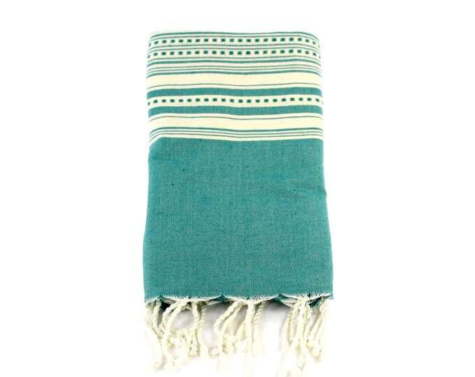 Featured listing image: Organic Cotton/Linen Fouta Turkish bath towel Beach wrap Embroidered tapestry bed cover wall hanging Boho Nursery Fall Home Decor