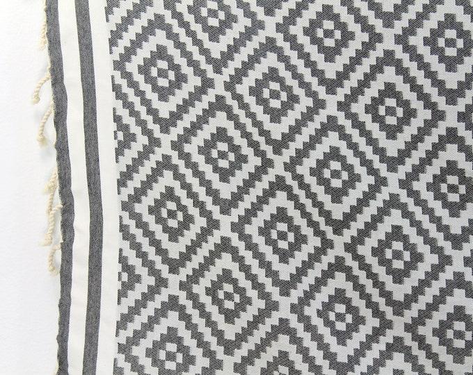 Featured listing image: Organic Cotton/Linen Jacquard Fouta