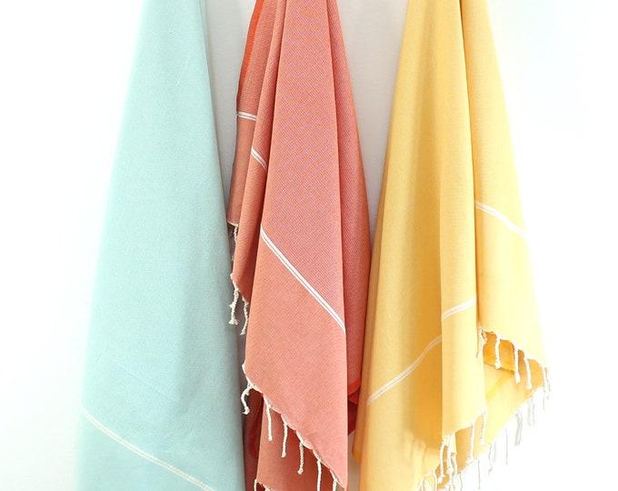 Featured listing image: Organic Cotton/Linen Fouta Turkish Bath Towel Beach