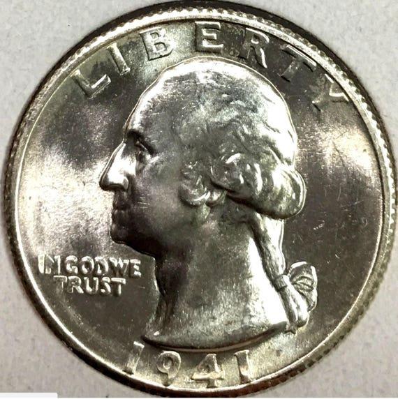 1947-S GEM BU WASHINGTON SILVER QUARTER FROM ORIGINAL ROLL SHARP LOT 1 Coin