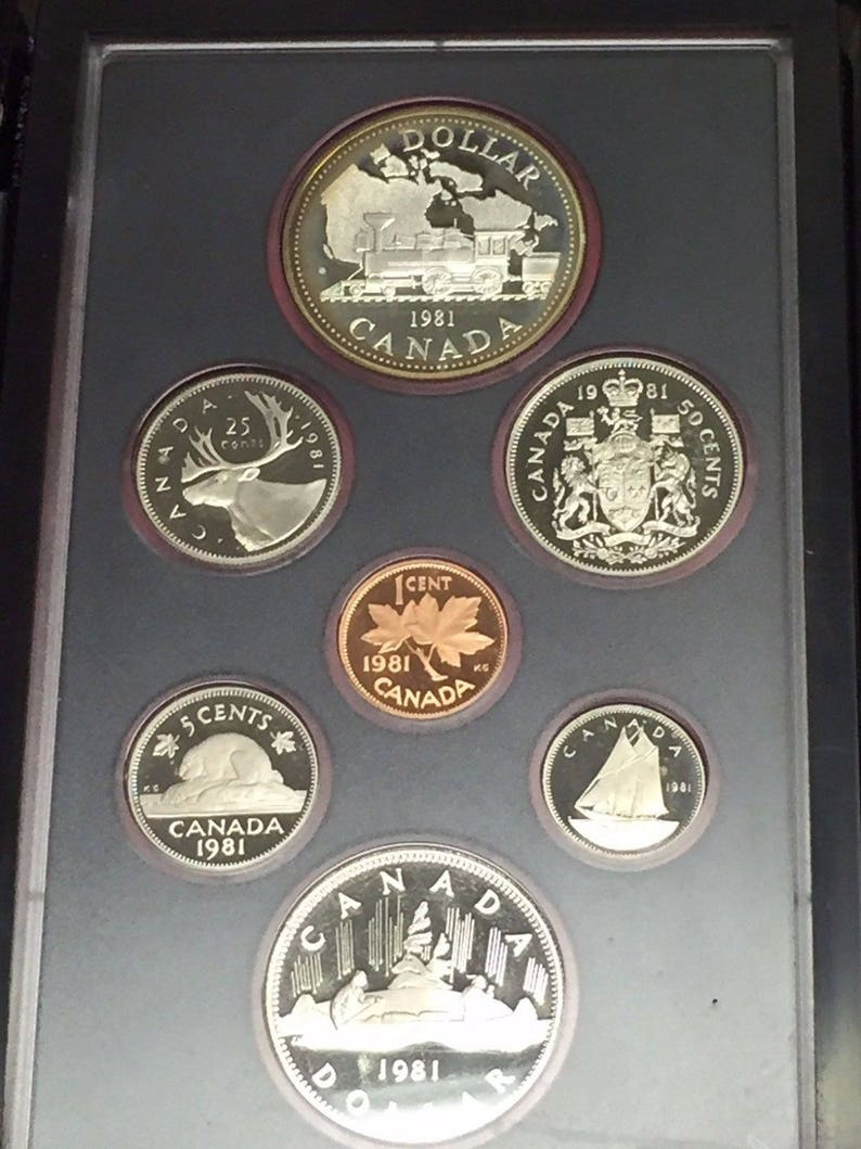 with COA 1981 Canada Double Dollar Proof Set