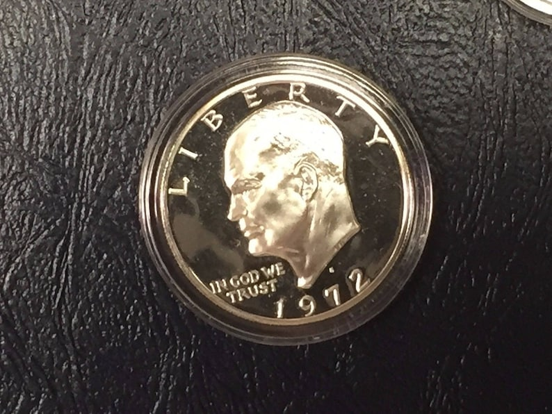 1971 S /& 1972 S EISENHOWER IKE 40/% SILVER DOLLARS GEM PROOF CAMEO IN CAPSULES