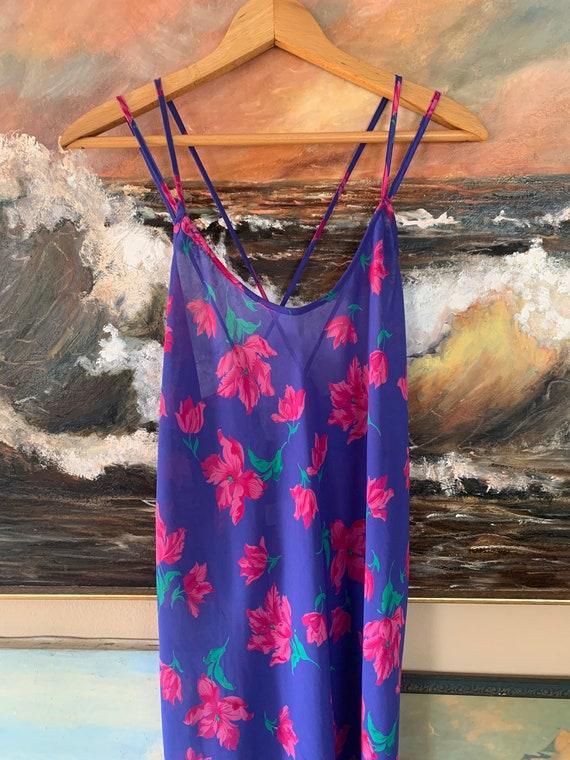 Vintage Floral Slip Dress by Barbizon - image 2