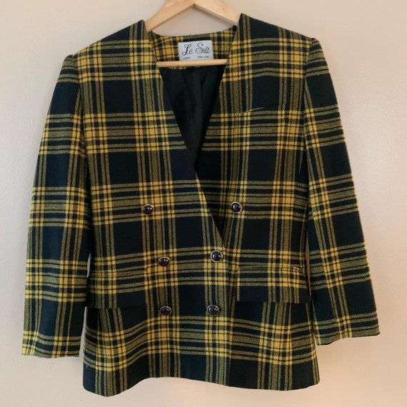 1980s double breasted Cher Clueless blazer by Le S