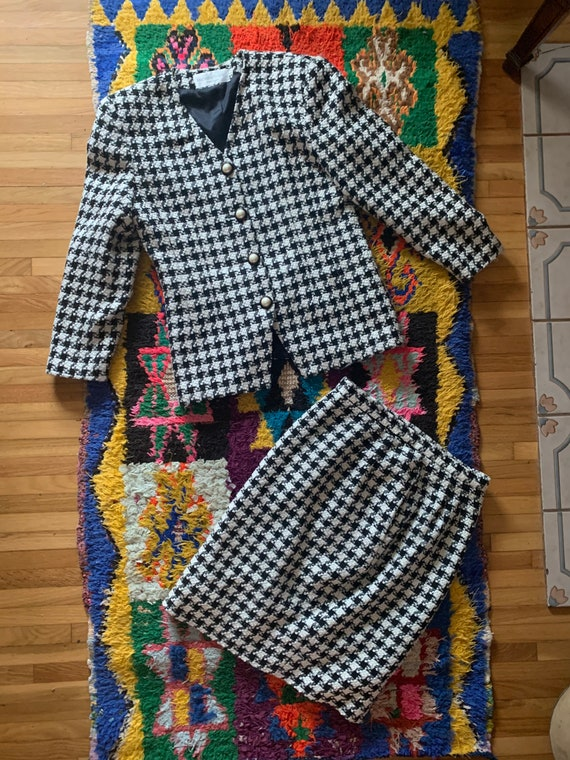 1980's Houndstooth Suit