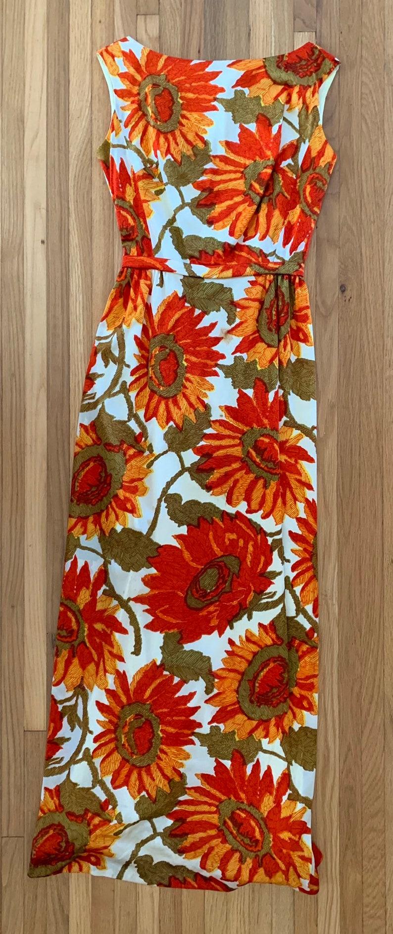 1960/'s sunflower print mod gown by Jay Herbert