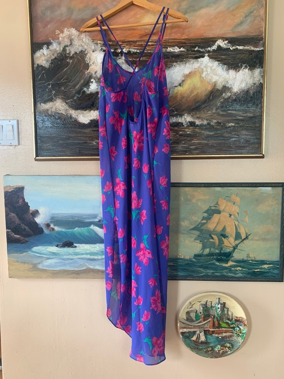 Vintage Floral Slip Dress by Barbizon - image 4