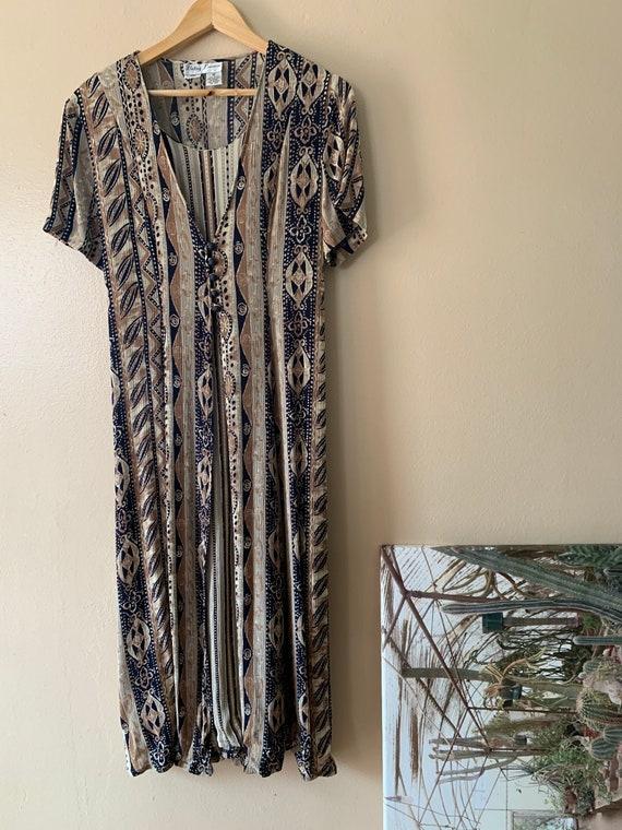 1990's Betsy Lauren Boho Dress