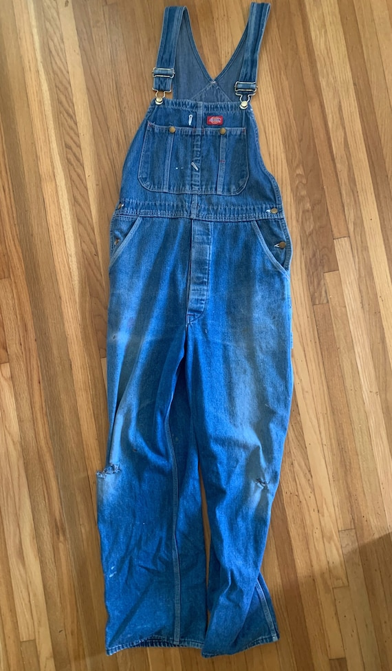 Vintage Dickies Denim Overalls Distressed