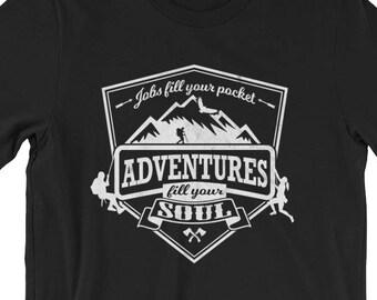 2fe089a7 Hiking UNISEX T-Shirt Mountain Climbing Adventure Trekking Shirt