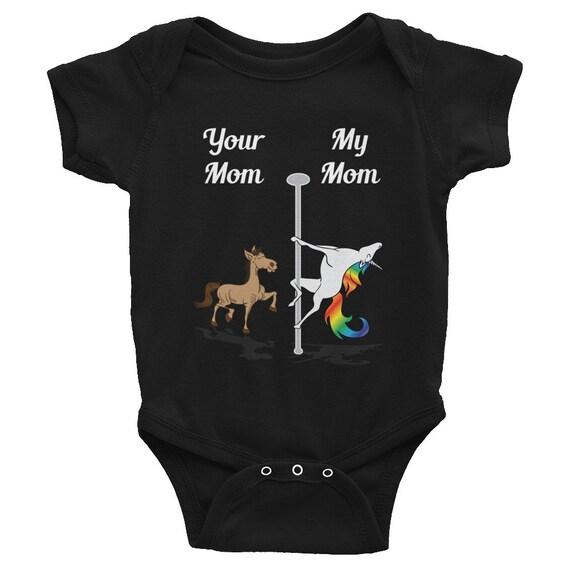 Your Mom My Mom Shirt Pole Dancing Unicorn T Shirt Infant Etsy