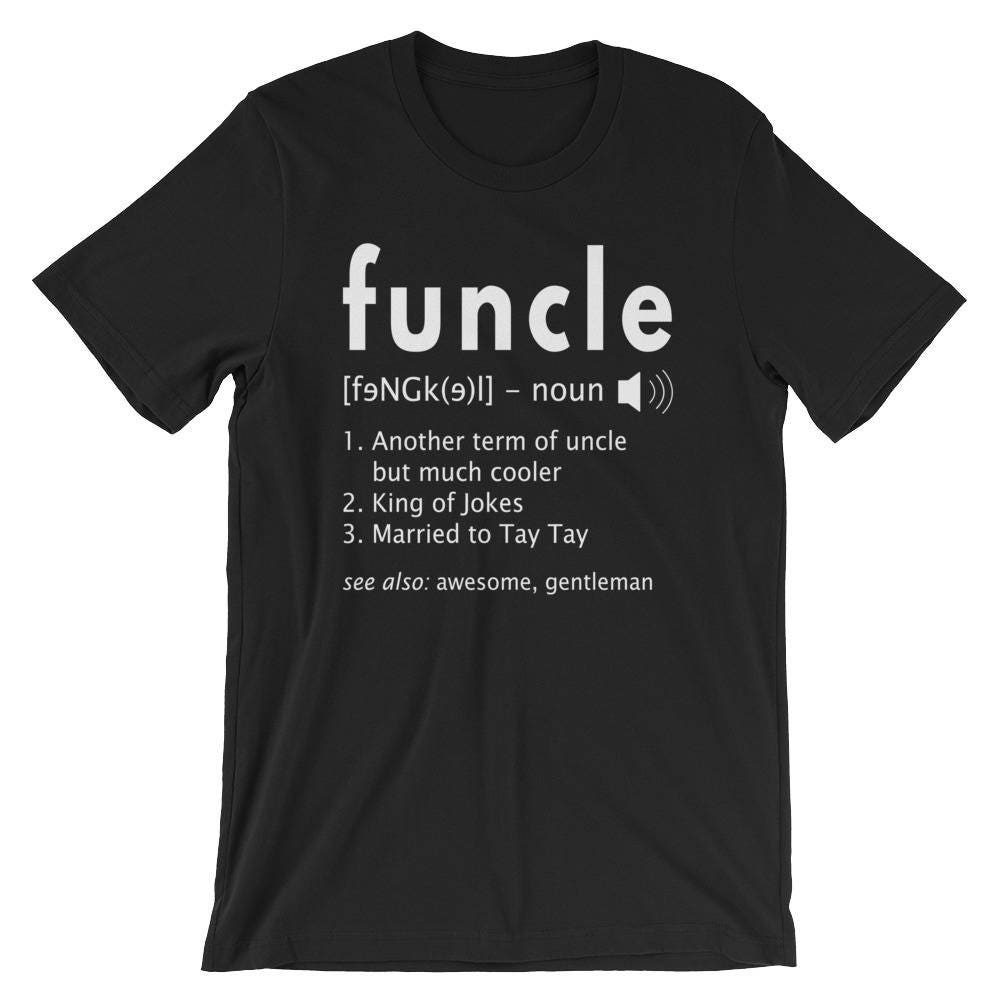 bearded funcle black shirt birthday gift for uncle fathers day funcle Definition