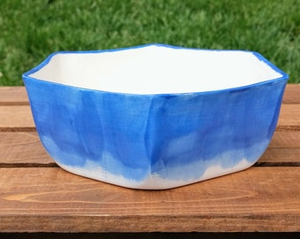 Blue Hexagon Pot