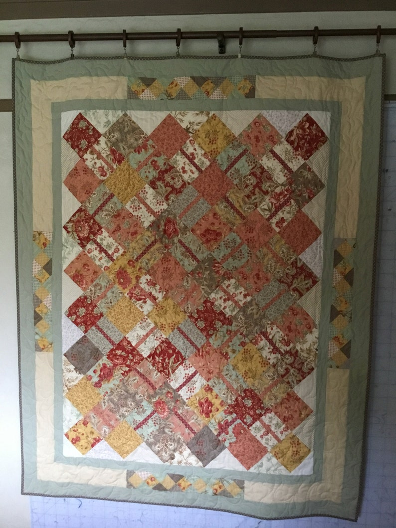 Homemade Quilts For Sale >> Paisley Floral Quilt Quilts For Sale Handmade Quilts Etsy