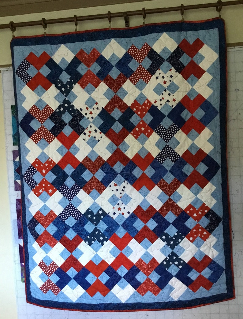 Homemade Quilts For Sale >> Patriotic Quilt Quilts For Sale Handmade Quilts Homemade Etsy