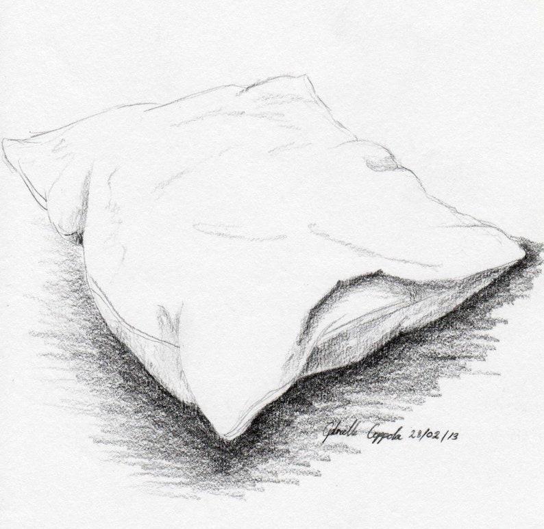 Подушки рисунок карандашом