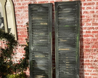 1/12 scale dolls house miniature weathered aged shutters gothic