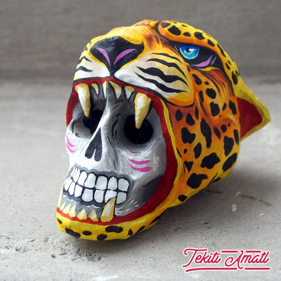 Guerrero Azteca Guerrero Jaguar De Jaguar Alebrije De Etsy