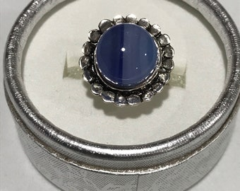 Shades of Blue Fused Glass Ring