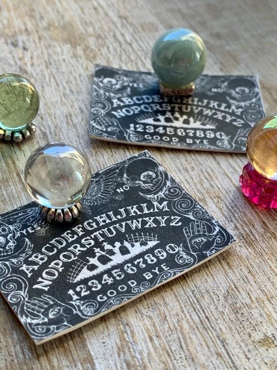 Miniature 1:12 Fortune Tellers Ball CRYSTAL Ball with Ouija Board Dollhouse Mini Halloween Scene Fairy Garden Gazing Ball Free Shipping