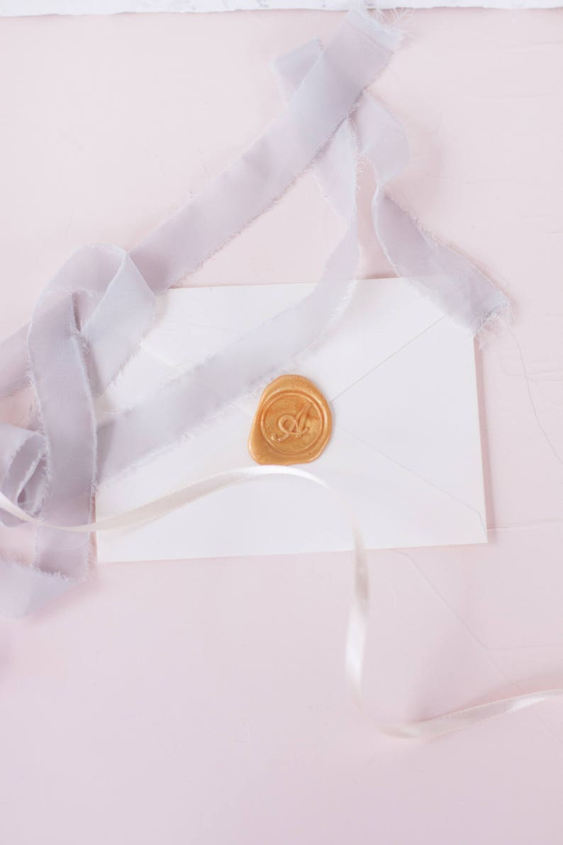 Self Adhesive Wax Seals  A-Z Wax Seals  Wedding Invitation Seals  Peel and Stick Wax Seal One letter wax seal  Initial wax seal stamp