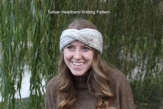 Knitting Pattern Turban Headband Knitting Pattern Pdf Ear Etsy