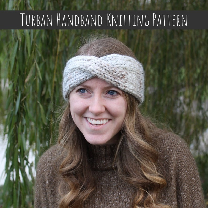 Turban Headband Knitting Pattern PDF KNITTING PATTERN Ear Warmer Knitting Pattern