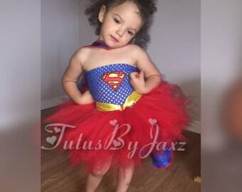 Superman / Supergirl tutu costume dress  sc 1 st  Etsy & Supergirl tutu | Etsy